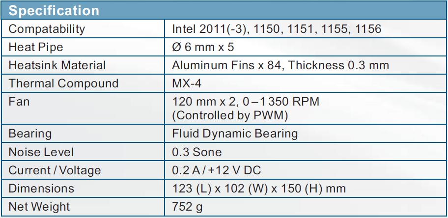 Arctic Freezer i32 Plus Especificaciones