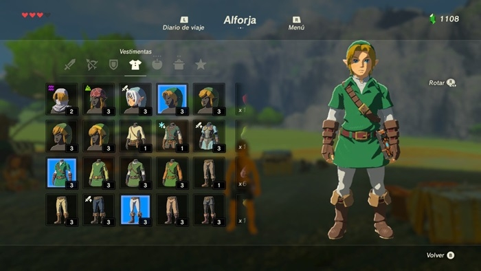 Zelda Breath of the Wild traje